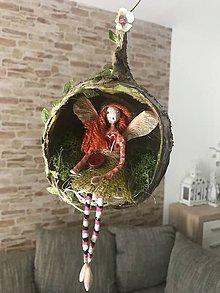 Socha - Víla Enelína Olívia (závesná dekorácia) - 10966721_