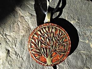 """Náhrdelníky - Org. šperk ,,Strom životní vitality"""" s karneolem - 10965851_"""