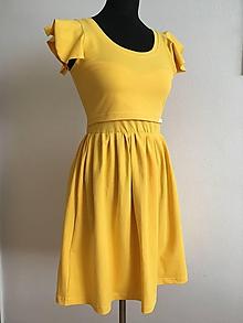 Šaty - Šaty na dojčenie s volánovým rukávom - 10965449_