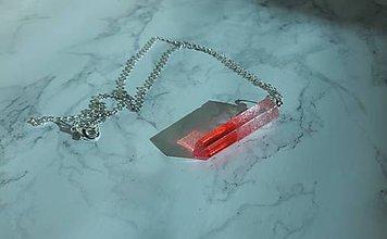 Náhrdelníky - Kryštálové náhrdelníky (Červená) - 10966939_