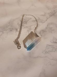 Náhrdelníky - Kryštálové náhrdelníky (Modrá) - 10966942_