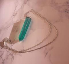 Náhrdelníky - Kryštálové náhrdelníky (Zelená) - 10966946_