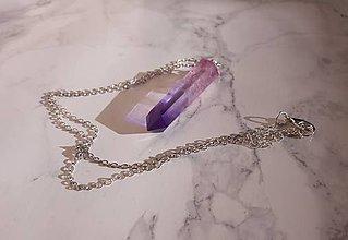 Náhrdelníky - Kryštálové náhrdelníky (Fialová) - 10966949_