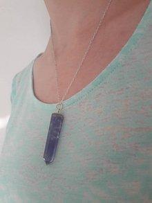 Náhrdelníky - Kryštálové náhrdelníky (Bordová) - 10966960_