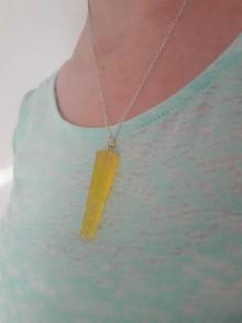 Náhrdelníky - Kryštálové náhrdelníky (Žltá) - 10966966_