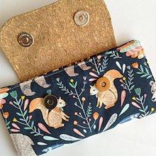 Peňaženky - Peñaženka- modrá, medved a veveričky - 10966340_