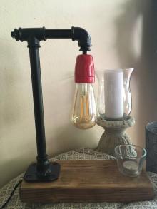 Svietidlá a sviečky - Stolova lampa . - 10967198_