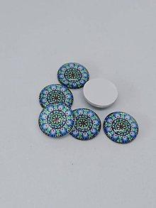 Komponenty - Kabošony kvety - pár (Modré kvety 12 mm) - 10966732_