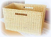 Košíky - Košík prírodný č 10 - 10966488_