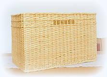 Košíky - Košík prírodný č 10 - 10966490_