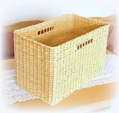 Košíky - Košík prírodný č 10 - 10966504_