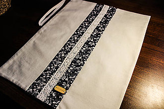 Úžitkový textil - Vrecko na potraviny (kvietok zvislý) - 10966364_