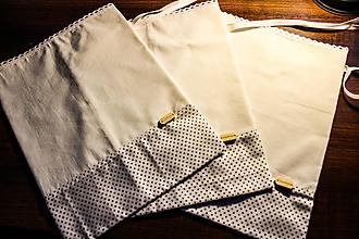 Úžitkový textil - Sada vreciek na potraviny - bodka - 10966395_