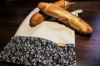 Úžitkový textil - Sada vreciek na potraviny - kvietok - 10966408_