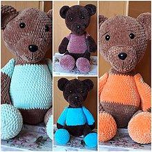 Hračky - Veliký hačkovaný medvedík - 10967244_