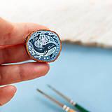 Odznaky/Brošne - Ručně malovaná brož s velrybou - 10969123_