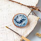 - Ručně malovaná brož s velrybou - 10969135_