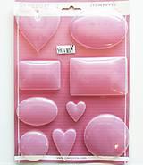 Pomôcky/Nástroje - Plastová forma pružná - Stamperia, A4 - srdce, ovál - 10968773_