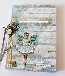 Papiernictvo - zápisník s vílou - 10968679_