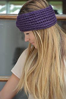 Ozdoby do vlasov - ve fialové - 10968072_