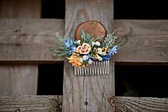 Ozdoby do vlasov - Kvetinový hrebienok do vlasov - LÚKA - 10969174_