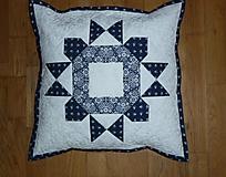 Úžitkový textil - Obliečka na vankúšik z modrotlače - 10970164_