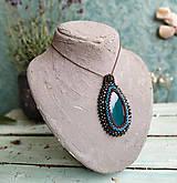 Náhrdelníky - Achátový n.14 - šitý náhrdelník - 10968119_