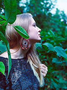 Náušnice - Voyage en Amazonia n.7 - sutaškové náušnice - 10969235_