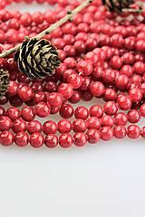 Minerály - rubínový jadeit korálky 8mm - 10970506_