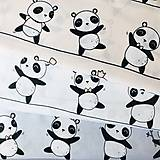 Pandy; 100 % bavlna, šírka 160 cm, cena za 0,5 m