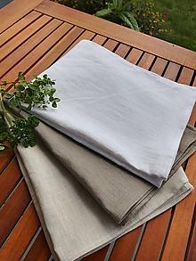 Úžitkový textil - Ľanová kuchynská utierka (Biela) - 10969739_