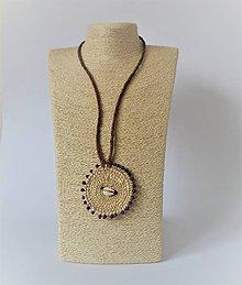 Náhrdelníky - Kožený náhrdelník, šperky v egyptskom štýle - 10968831_