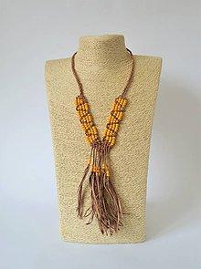 Náhrdelníky - Kožený náhrdelník, šperky v egyptskom štýle (Yellow) - 10968867_