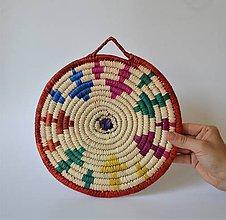 Pomôcky - Africký závesný kruh na stenu - 10969516_