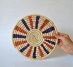 Košíky - Africký závesný kruh na stenu (African Trivet) - 10969535_