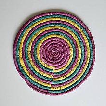 Dekorácie - Africký závesný kruh na stenu - 10969550_