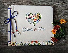 Papiernictvo - Fotoalbum klasický, papierový obal so štruktúrou plátna a ľubovoľnou potlačou (Fotoalbum klasický, papierový obal so štruktúrou  a ľudovou  potlačou) - 10970233_