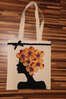 Nákupné tašky - taška s kvetmi - 10970119_