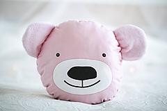 Detské doplnky - Macko uškáčik - celý ružový - 10969921_