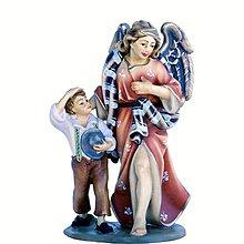 Socha - Strážny Anjel s dieťaťom - 10968020_