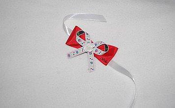 Náramky - Červený folk náramok pre družičku - 10969116_