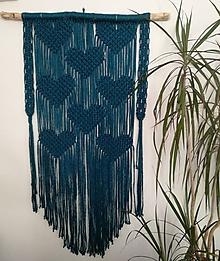 Dekorácie - Závesná dekorácia Makramé Dobré srdce - 10969999_