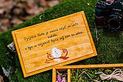 Krabičky - Drevená krabička na fotky s USB, folk dizajn - 10970336_