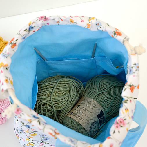 Lúčna taška  modrá ~ tvoritaška + nákupná
