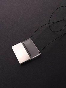 Náhrdelníky - Pure // Steel // Square - 10970118_
