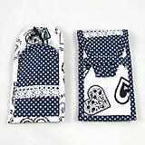 Úžitkový textil - Pre knihomoľov - peračník - folklórny modro-biele - 10968925_