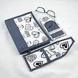 Úžitkový textil - Pre knihomoľov - peračník - folklórny modro-biele - 10968926_