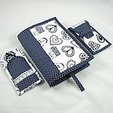 Úžitkový textil - Pre knihomoľov - peračník - folklórny modro-biele - 10968927_