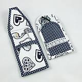 Úžitkový textil - Pre knihomoľov - peračník - folklórny modro-biele - 10968929_