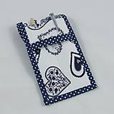Úžitkový textil - Pre knihomoľov - peračník - folklórny modro-biele - 10968934_
